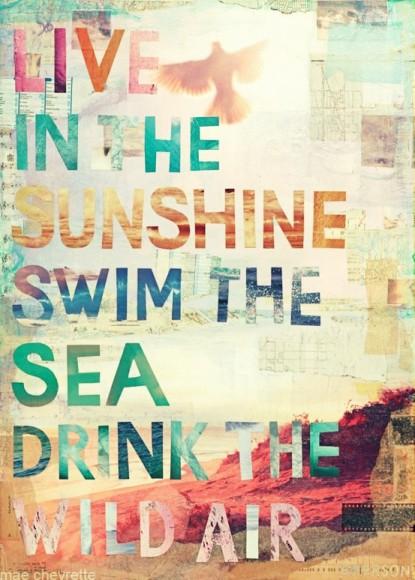 live swim drink