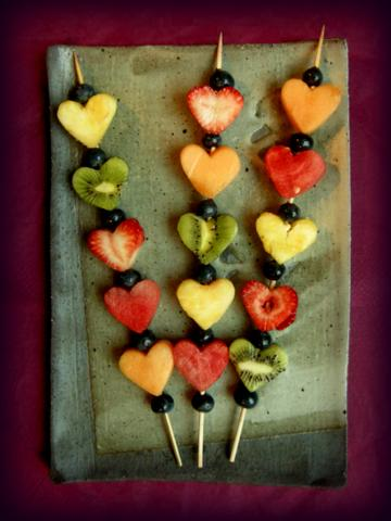 heart kabobs